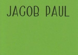 """A custom personal green card that reads """"Jacob Paul"""""""